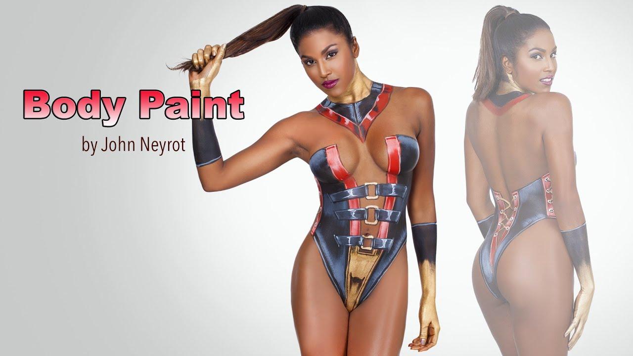 Sexy body paint dance videos