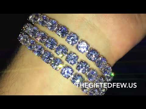 Large Cut Tennis Bracelet 💎 The Gifted Few Gold Review
