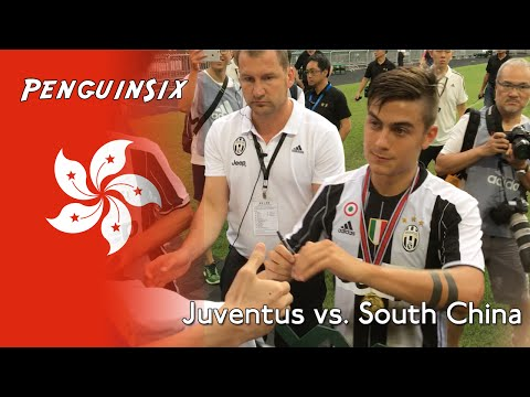 Juventus vs. South China - Fan scenes from the stadium in Hong Kong.