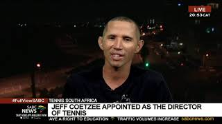Jeff Coetzee appointed Director of Tennis SA