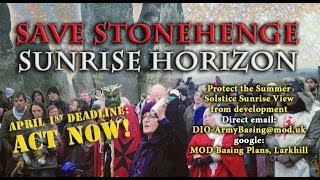 Save Stonehenge Sunrise Horizon - ACT NOW!