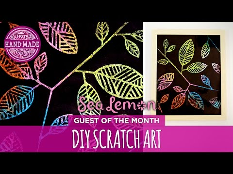 DIY Scratch Art with Sea Lemon - HGTV Handmade