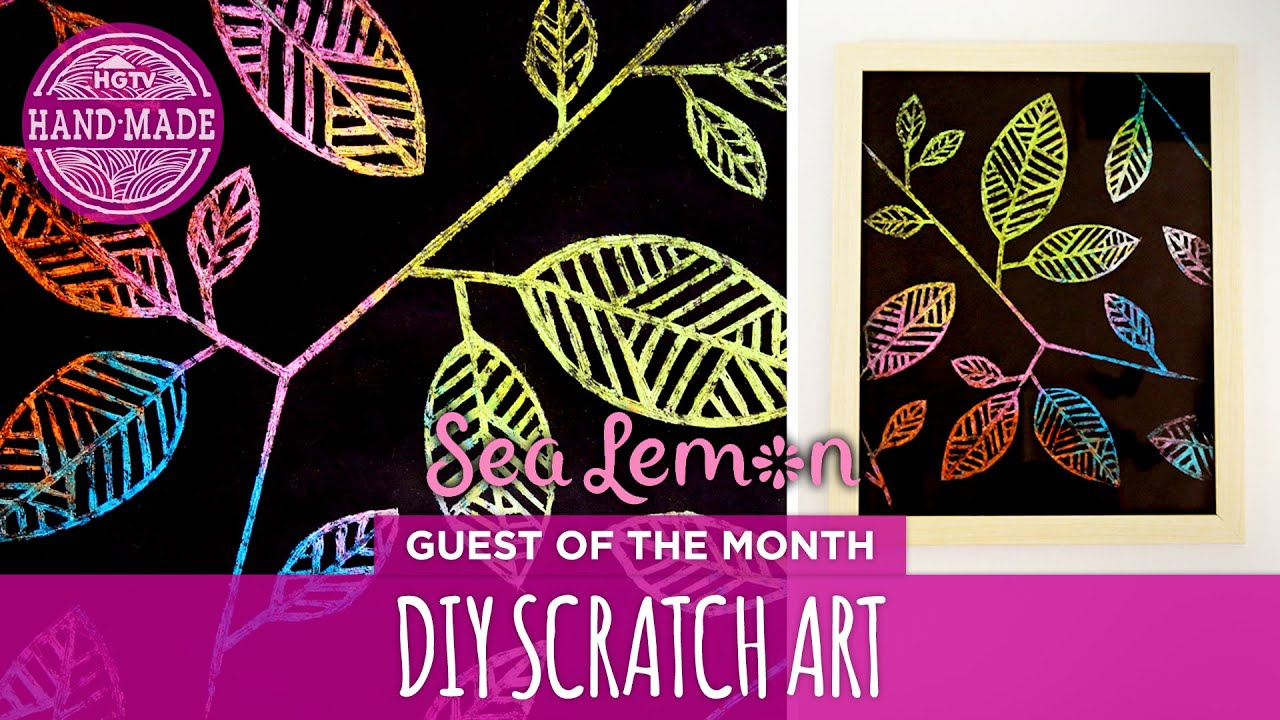 DIY Scratch Art With Sea Lemon