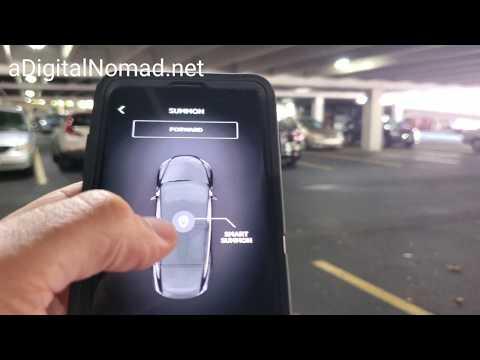 TESLA V10 SMART SUMMON vs. CONCRETE PILLAR in Parking Garage | 2019.32.11