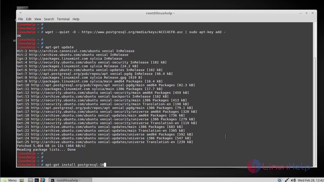 How To Install PostgreSQL 10 on Linux Mint 18 3 | LinuxHelp Tutorials