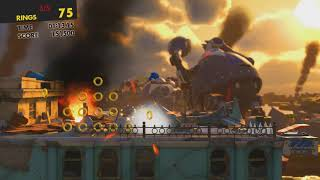 Sonic Forces - Stage 3 All Red Rings Ghost Town (CIty)