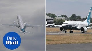 Moment a 737 jet pull off impressive near-vertical takeoff - Daily Mail