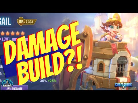 Dungeon Hunter Champions:  Abigail The Fire Siege Tower | Damage Build?!