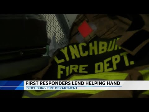First responders lend helping hand