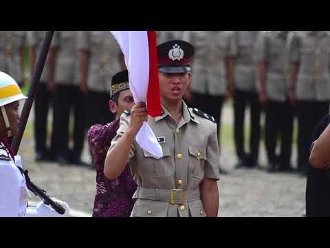 Pelantikan  Diktuk Bintara Polri T.A 2017/2018 SPN Betung Polda Sumsel
