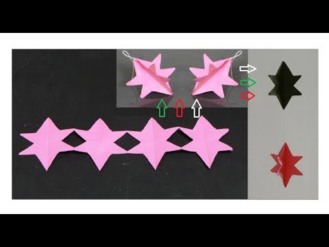 How to make paper star garland
