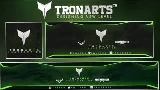 Dark glow Revamp/Rebrand Photoshop Template (colour changable) |Tronarts