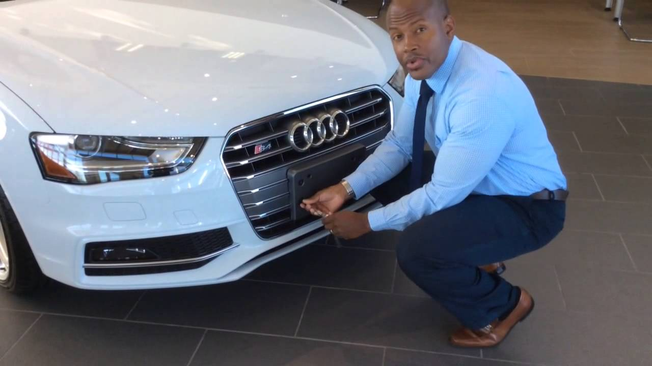 License Plate Holder on Audi, BMW, Mercedes automobiles - YouTube