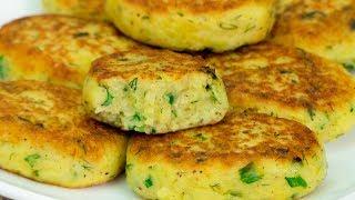 Хотите вкусно перекусить? Идеальный выбор - картофельные оладьи с зеленью и чесноком. | Appetitno.TV