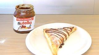 Nutella Puff Pastry Turnover Recipe