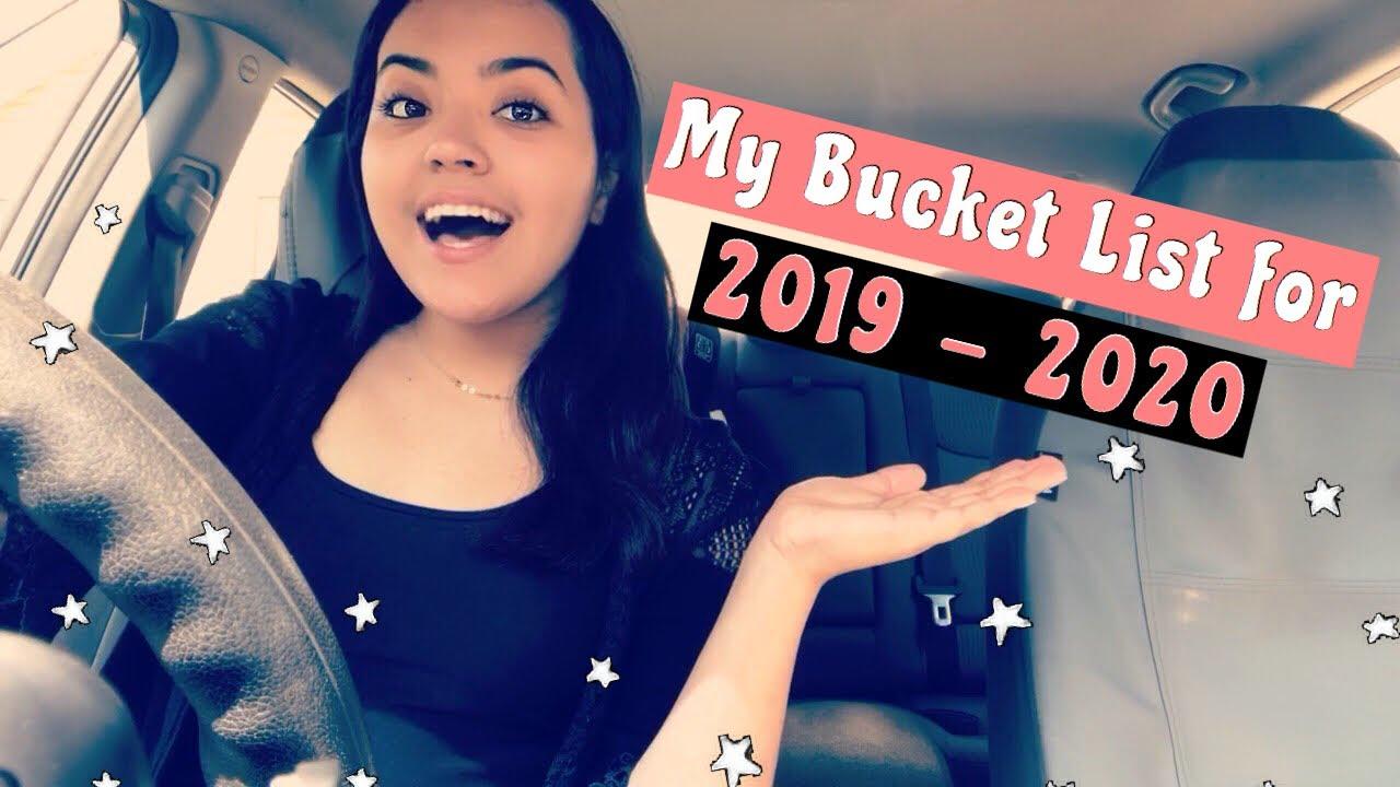 Bucket List 2020.My Bucket List 2019 2020 Youtube