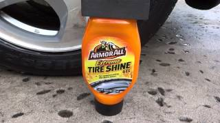 Armor All Extreme Tire Shine Gel review results before and after test on my 2001 Honda Prelude.