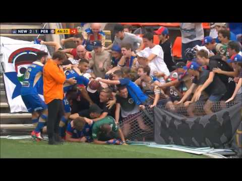 Fence collapses during A-League celebration |  Sportdec