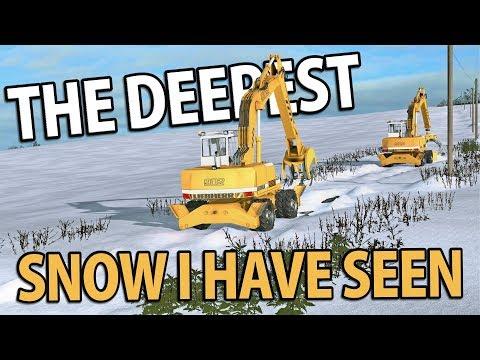 THE DEEPEST SNOW   Farming Simulator 17   Oakfield Farm - Episode 53
