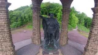 Nahluftaufnahmen vom Kaiser-Wilhelm-Denkmal in Porta Westfalica