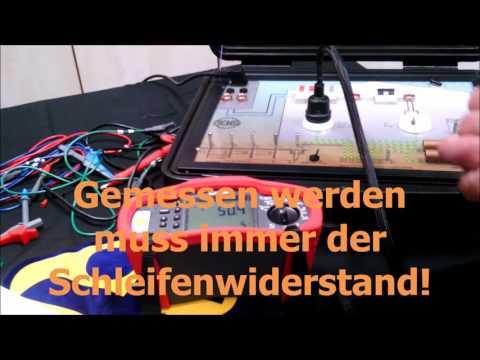 Schleifenwiderstand Messung Schleifenmessung ohne FI Netzinnenwiderstand VDE 0100 0105 Anlagentester