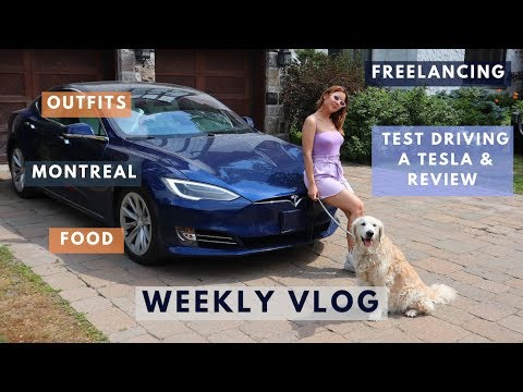 [VIDEO] - SUMMER WEEK IN MONTREAL | Test Driving a Tesla, Outfits, Food, Freelancing 2