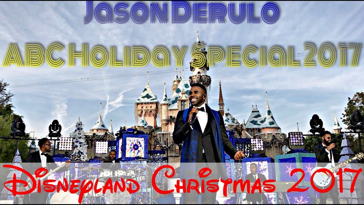 new front row hd steady cam jason derulo abc holiday special disneyland christmas 2017