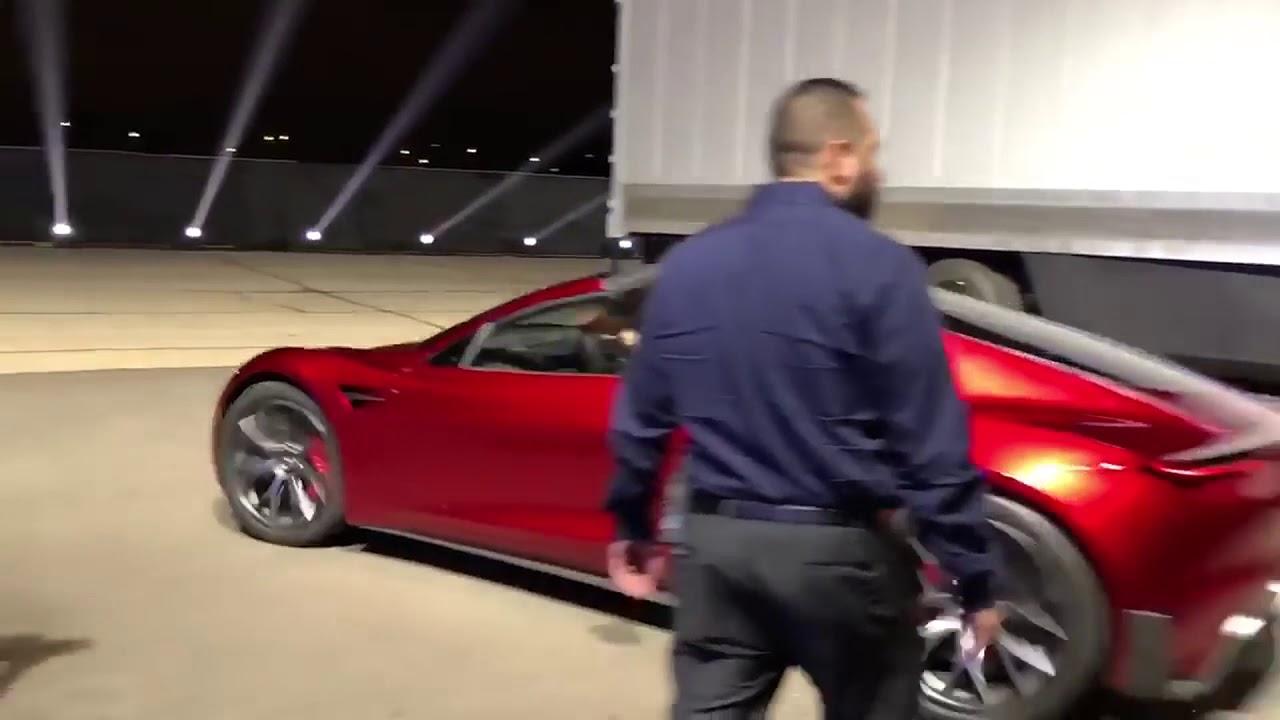 New Tesla Roadster Takeoff