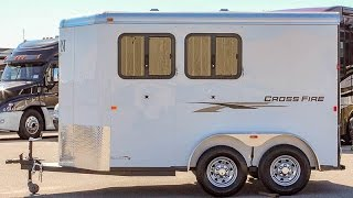 2016 LOGAN COACH CROSSFIRE 2 HORSE TRAILER - Transwest Truck Trailer RV