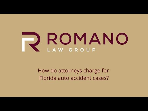 How do attorneys charge for Florida auto accident cases?