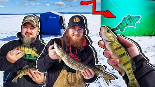 Ice Fishing Perch Fishing Burt Lake Michigan
