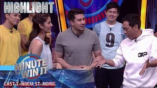 Ang mainit na debate nina Shamcey at Long | Minute To Win It