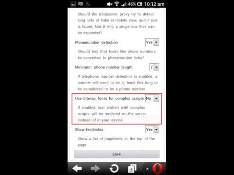How To Enable Sinhala Font In Opera Mini