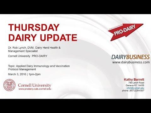 PRODAIRY Thursday Dairy Update Dr. Rob Lynch 3.3.2016