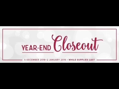 Stampin' Up!'s Year-End Closeout and Retiring Products from the Holiday Catalog
