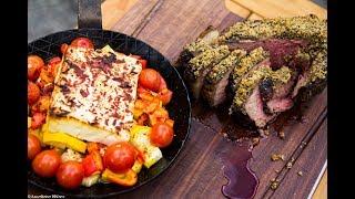 Folge 163 - Porterhouse Steak mit Kruterkruste  Feta Deutsches BBQ- Grill  Kochrezept