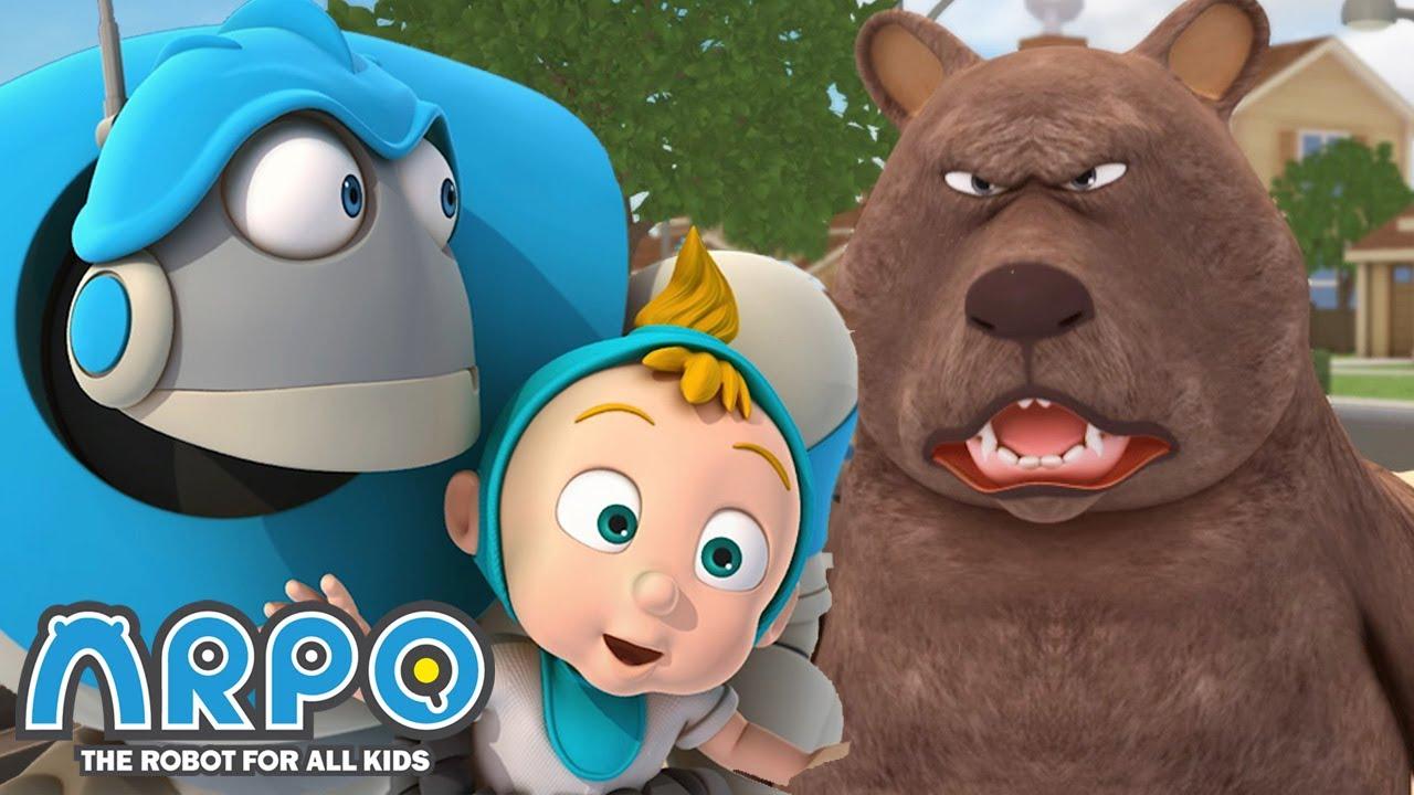 Bear ATTACK!!!- ARPO the Robot | 에피소드를보고 | Cartoons for Kids | Robot Animation