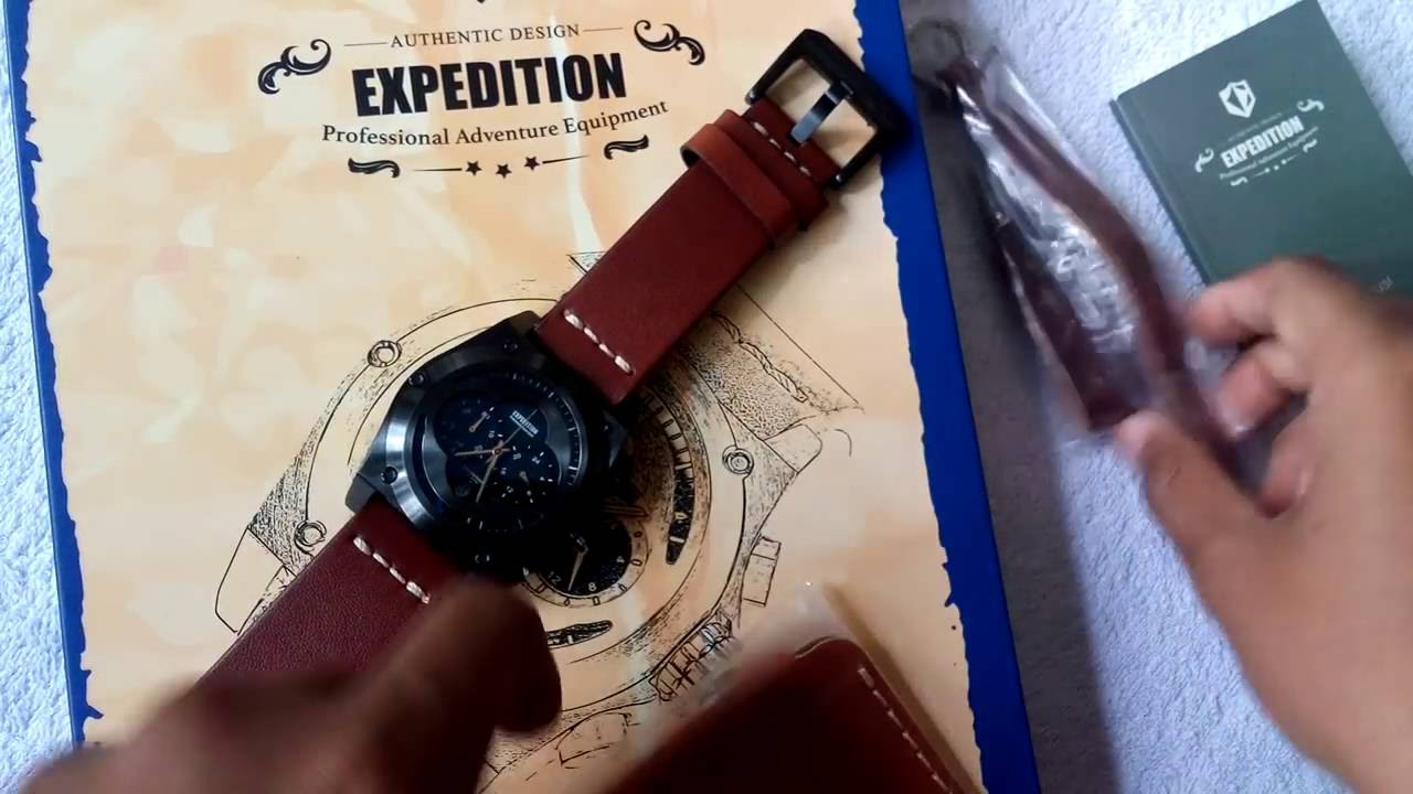 Limited Edition Jam Tangan Cowok Expedition Timepice E6691m Youtube E6372 Full Black Original