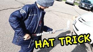 Kids HocKey First SCTA Hat Trick Buffalo Regals vs Hamilton Jr Bulldogs back and forth