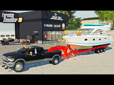 GIANT 45 FOOT YACHT ADDED TO POWERSPORTS STORE! (& JETSKIS) | FARMING SIMULATOR 2019