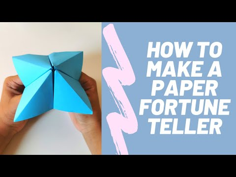 How To Make a Paper Fortune Teller - DIY Paper Crafts Home for Kids - Easy Origami - 5-Minute Crafts