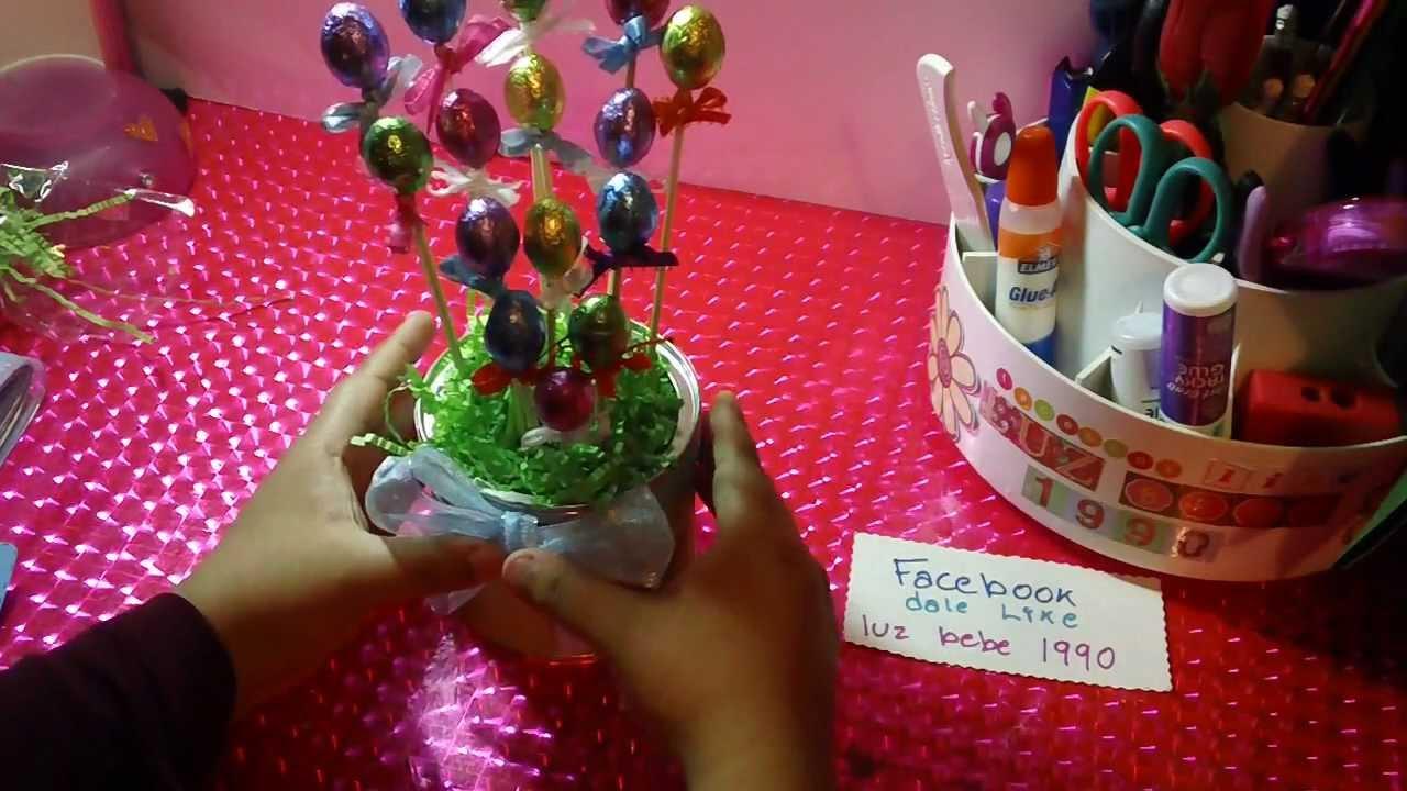 Pascua centro de mesa con chocolate youtube - Como hacer centro de mesa ...