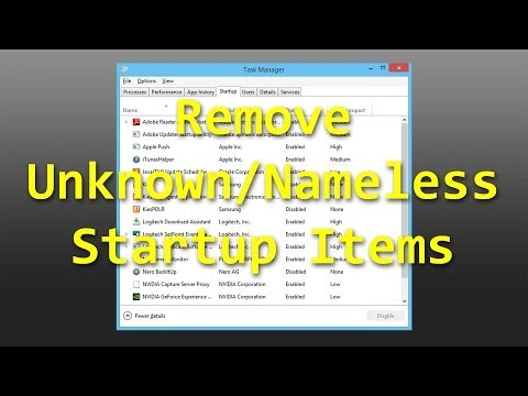 Remove Nameless/Dead Startup Items
