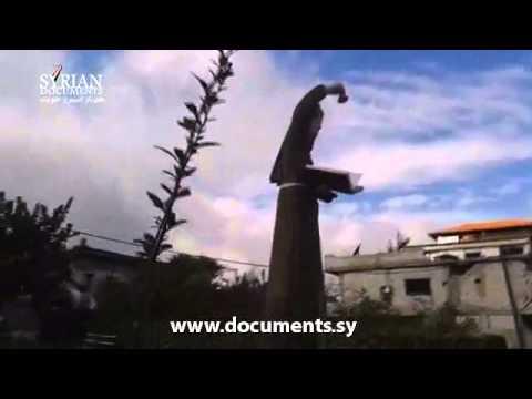 استهداف أحد الت٠  اثيل الأثرية في قرية بئر عج٠   بريف القنيطرة
