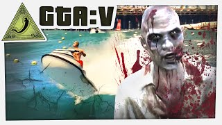 GTA 5 Funny Moments Free Roam - EPIC ZOMBIES CHASE