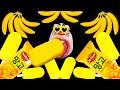 ASMR MUKBANG : YELLOW FOOD! Mango Ice Cream & Sweet Banana EATING SHOW!