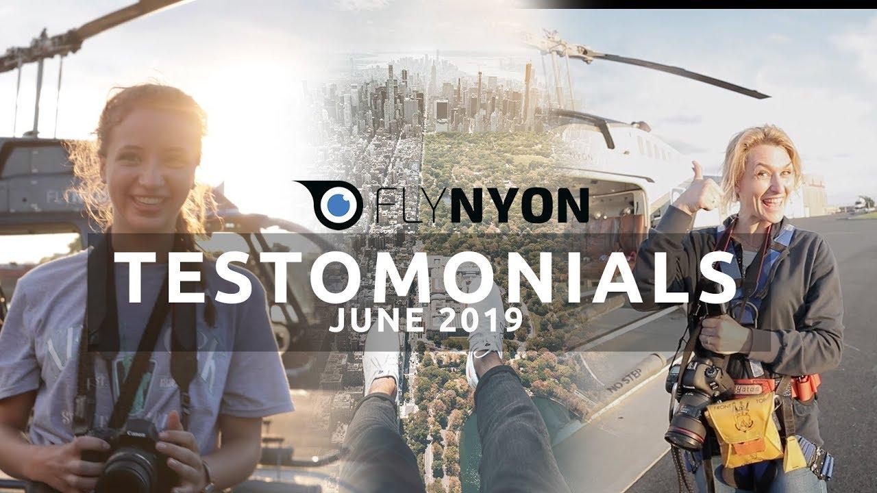 FlyNYON Testimonials - JUNE 2019
