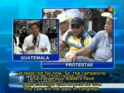 Guatemala: third day of protests for Rural Development Law, one dead