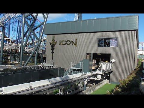 ICON roller coaster POV Blackpool Pleasure Beach UK