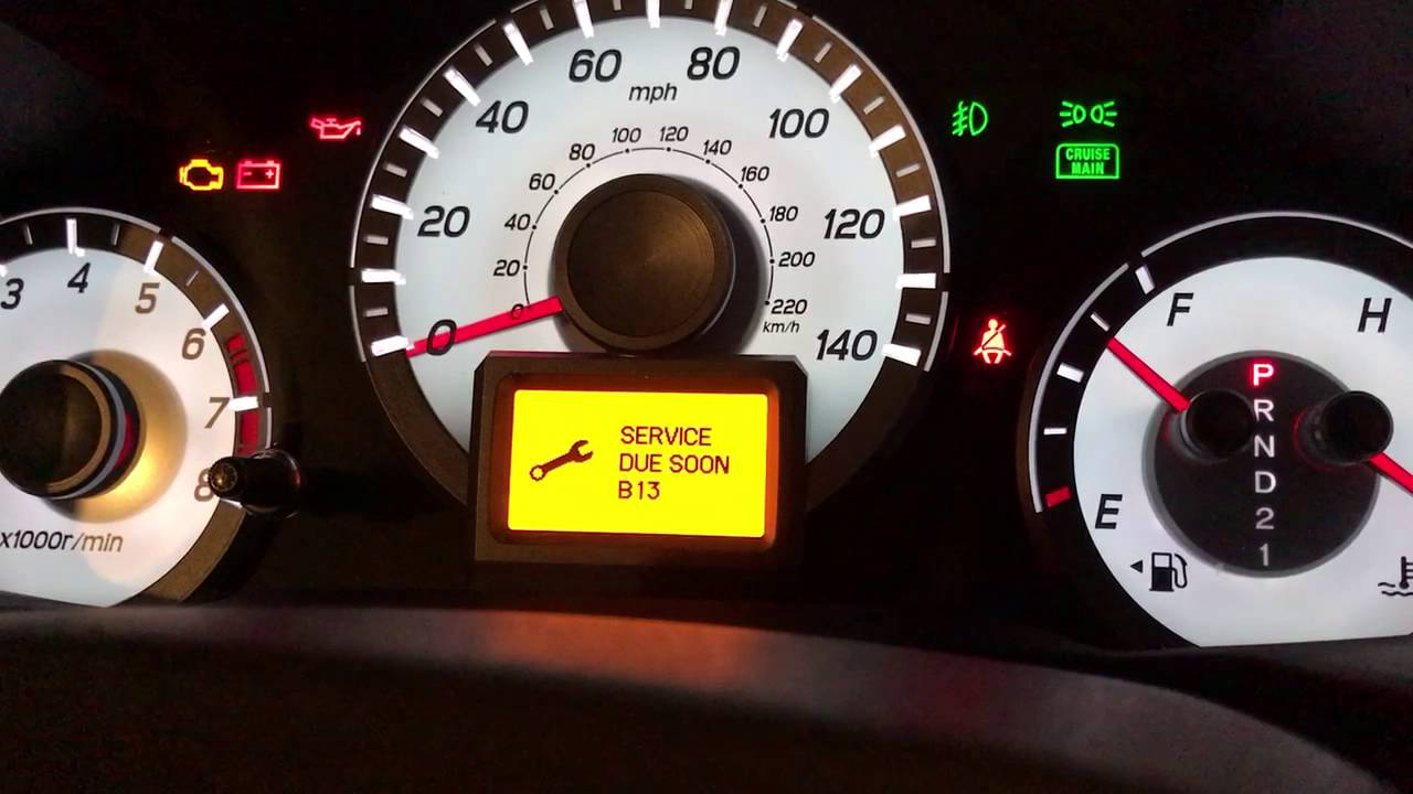 Engine Oil Life Reset 2013 Honda Pilot Touring - YouTube